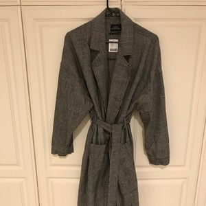 Brand New Black Urban Outfitters Trench Coat